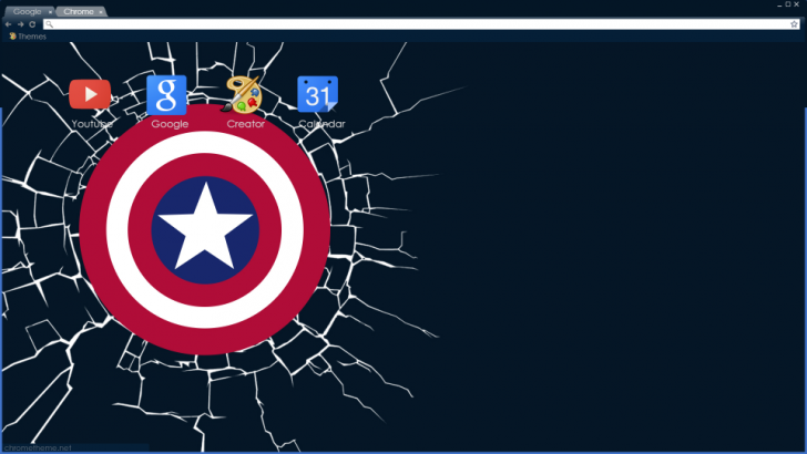 Captain America Chrome Theme