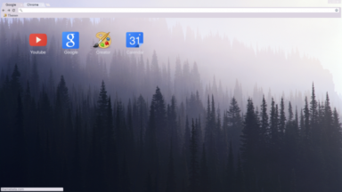 Forest In Fog Chrome Theme