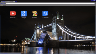 Tower Bridge At Night Chrome Theme