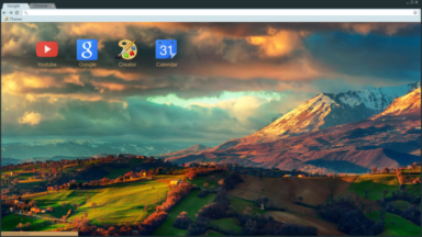 Mountain Gold Chrome Theme