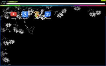 Simple Flowers Chrome Theme