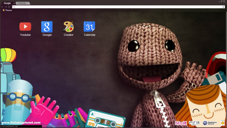 LittleBigPlanet Sackboy Chrome Theme