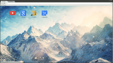 Mountain Snow Storm Chrome Theme