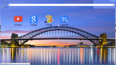 Sydney Harbour Bridge Chrome Theme