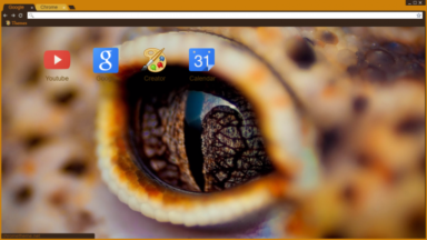 Reptile Eye Chrome Theme