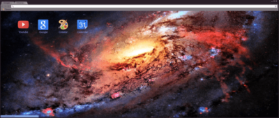 Space Nebula Chrome Theme