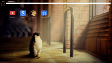 Indoor Penguin Chrome Theme