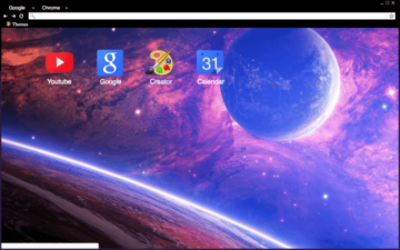 Outer Space Chrome Theme