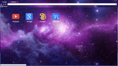 Purple Space Chrome Theme