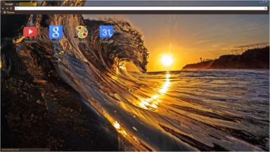 Wave In The Sunset Chrome Theme