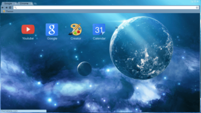 Galaxy Chrome Theme