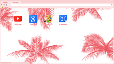 Pink Palm Trees Chrome Theme