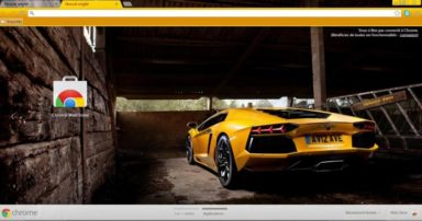 Lamboghini Aventador Chrome Theme
