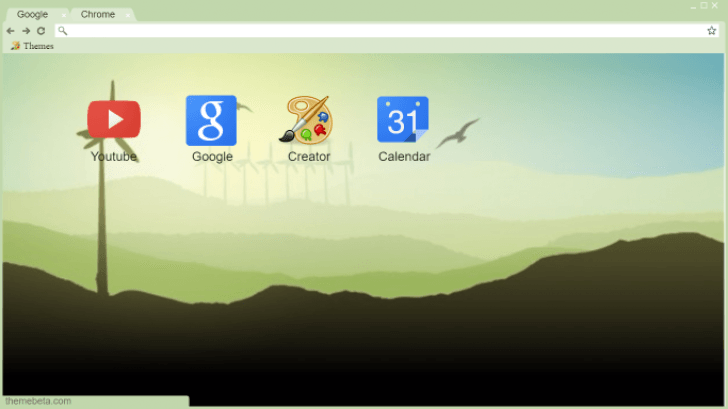 Simple Countryside Chrome Theme