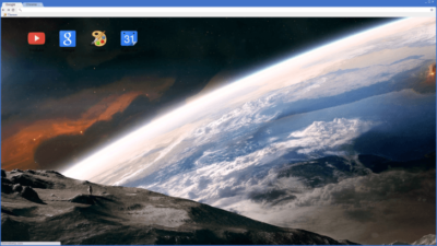 Space Moon Earth Chrome Theme