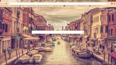 Venecia Sunset Theme HD Chrome Theme