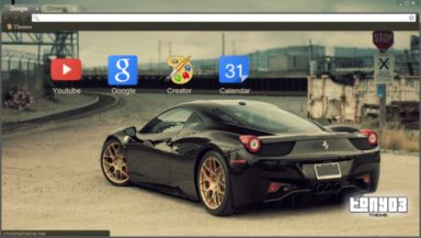 Ferrari 458 Italia Chrome Theme