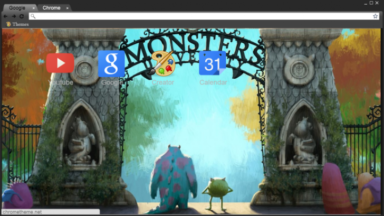 Monster's University Chrome Theme