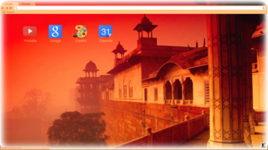 Agra Fort  India Chrome Theme