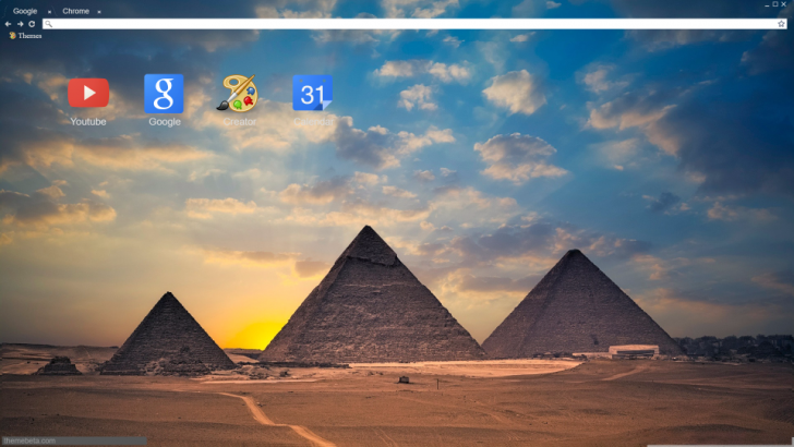 Pyramids Chrome Theme