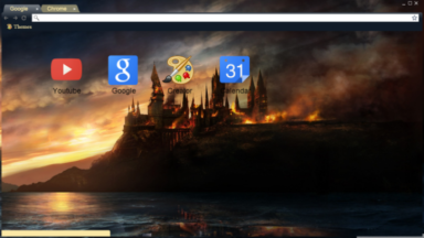 Deathly Hallows Hogwarts Chrome Theme