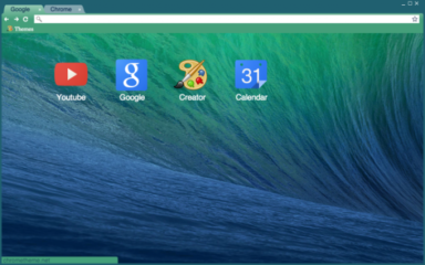 Mavericks Wave Chrome Theme