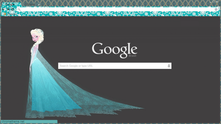 Queen Elsa Chrome Theme