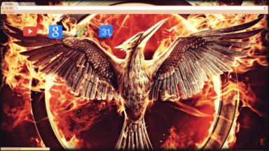 Mockingjay Hunger Games Chrome Theme