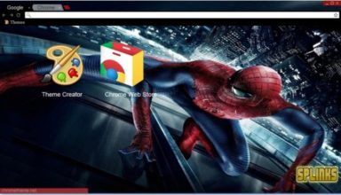 The Amazing Spider Man Chrome Theme