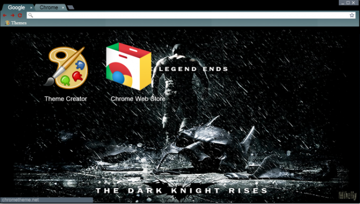 The Legend Ends Chrome Theme