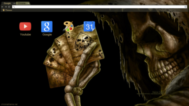 Skeletal Session Chrome Theme