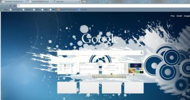 Ubuntu Blue Chrome Theme