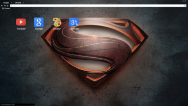 Man of Steel – Logo Chrome Theme
