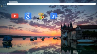 Watery City Chrome Theme