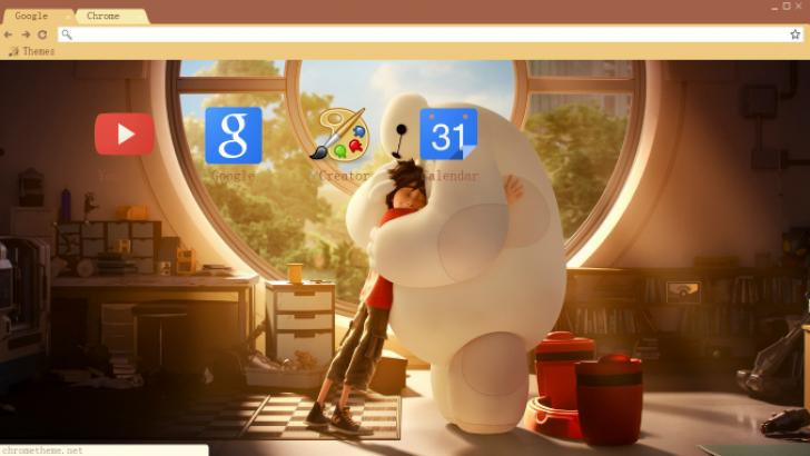 Baymax And Hiro Chrome Theme