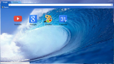 Ocean Wave Chrome Theme
