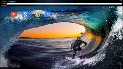 Surf inside Chrome Theme
