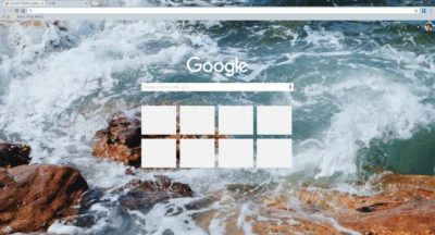 water wave Chrome Theme