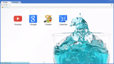 Blue Splash Chrome Theme