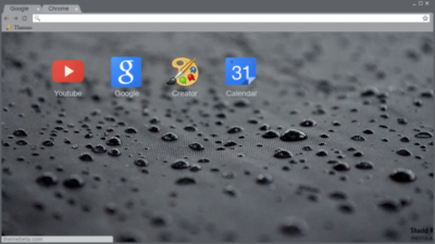 Rain Drops Chrome Theme