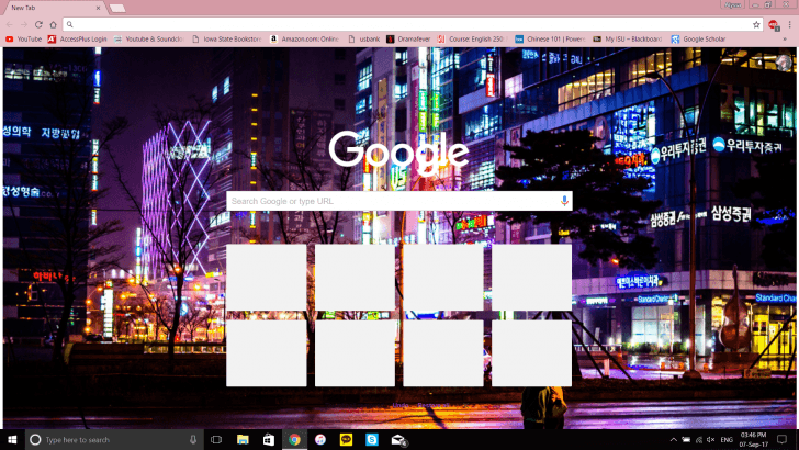 South Korea Night Chrome Theme