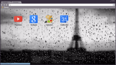 Paris Rain Chrome Theme