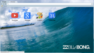 Billabong Wave Theme Chrome Theme