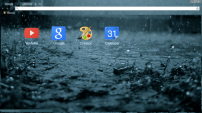 Creative Rain Chrome Theme