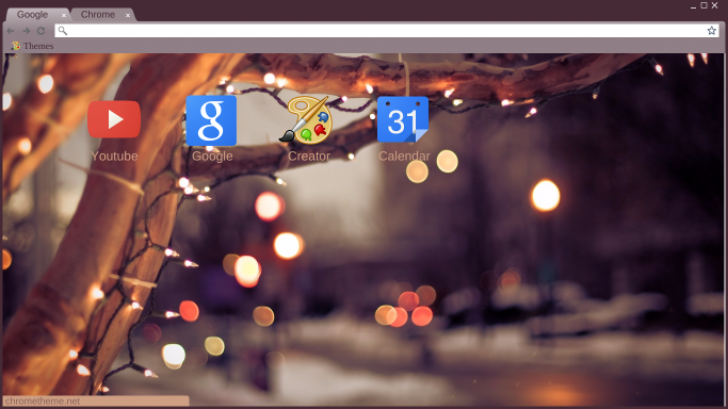 winter lights Chrome Theme