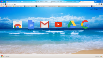 Ocean Chrome Theme
